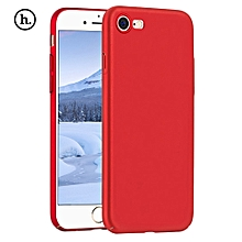 Close Skin Design Solid Color PC Protective Skin For IPhone 7 - Red