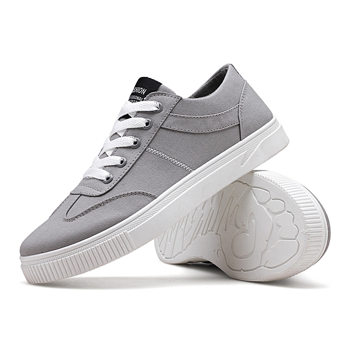Men S Skate Shoes Low Top Canvas Sneaker Lace Up Tennis Shoes