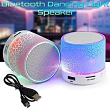 LED Portable Mini Wireless Bluetooth Speakers with USB and TF Port-Black