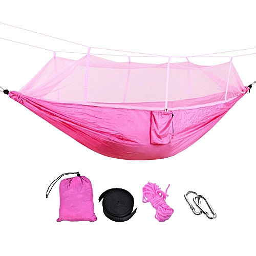 Generic Outdoor Camping Portable Hammock Nylon Hanging Bed Mosquito