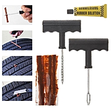 6 Pcs Auto Car Bike Tubeless Tire Tyre Puncture Plug Safety Repair Tool Kit
