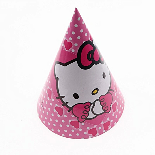 9e1ad2144 Generic Hello Kitty theme party set children birthday decorations kids party  supplies Disposable tableware banner set baby shower girl(A0051 6pcs)