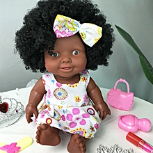 7dbf62785 Braveayong Baby Movable Joint African Doll Toy Black Doll Best Gift Toy  Christmas Gift -Coffee