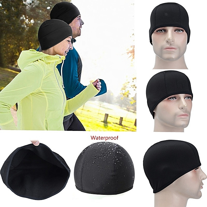 c082b63987a0c Cycling Running Sports Outdoor Hat Men Fleece Thermal Winter Black Ear Warm  Cap