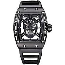 Skeleton Wrist Watch - Black