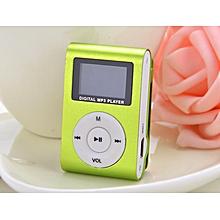 Green Mini MP3 Player Clip USB FM Radio LCD Screen Support for 32GB Micro SD
