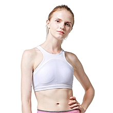 ebc33bf65cc WHITE Women Sports Bra No Steel Ring Shockproof Solid Yoga Breathable  Beauty Back Cross Bra