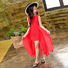 Rose Red High Low Dress
