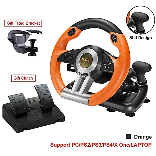 a7ee378ba14 PXN LEBAIQI PXN-V3II Gaming Vibration Steering Wheel Racing Controller for  PS3 PS4 X-ONE PC with Clutch