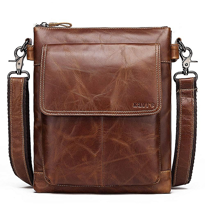 bed8c4fd4 KAVIS 2019 New Cowhide Leather Messenger Bag Small Handbags Men Shoulder  Bags Business Crossbody Male Famous