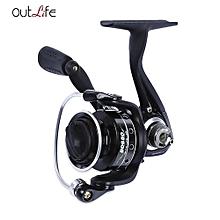 Outlife 5 + 1 Ball Bearing Metal Spool Spinning Fishing Reel-BLACK