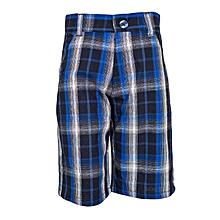 Royal Blue Checked Shorts