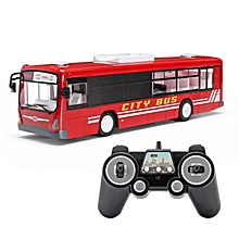 2.4G Remote Control City Bus Electric Openable Door RC Car Kids Model Toy