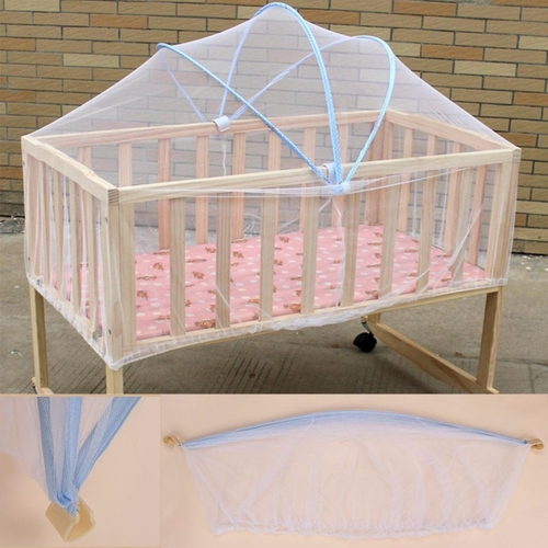 Generic 2PC Summer White Baby Cradle Bed Canopy Mosquito Net Toddlers Crib Cot Netting Safe & Generic 2PC Summer White Baby Cradle Bed Canopy Mosquito Net ...