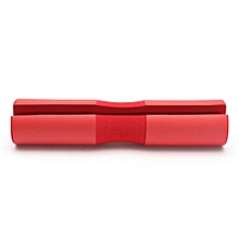 Foam Padded Barbell Bar Cover Pad Weight Lifting Shoulder Support  Red NEW