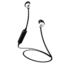 Olivaren Wireless Bluetooth Headset Sport Stereo Headphone Earphone For IPhone BK -Black