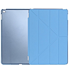Ultra Slim Removable PU Leather PC Back Cover Smart Sleep Multi-folding Stand For IPad Air 2