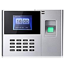 DANMINI N308 Fingerprint Reader Time Attendance Checking Recorder SILVER US PLUG