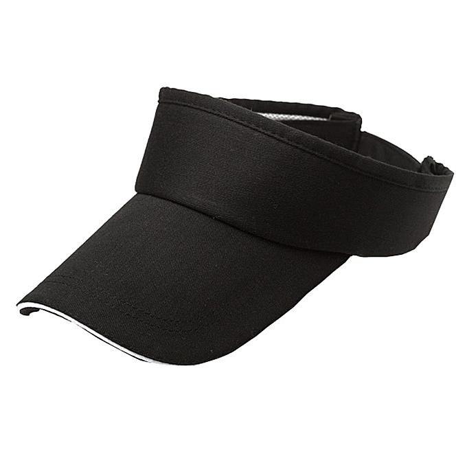 2837496577a Generic Men Women Summer Visor Sun Plain Hat Cap BK   Best Price ...