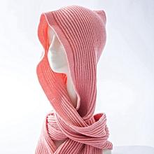 Men Women Multifunctional Scarve Warm Knit Hat Autumn Winter Korean Shawl Scarf Hat