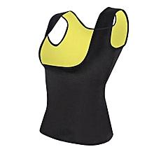 Women Sport Belly Belt Corset Neoprene Sauna Vest Body Shaper Shapewear XL Black