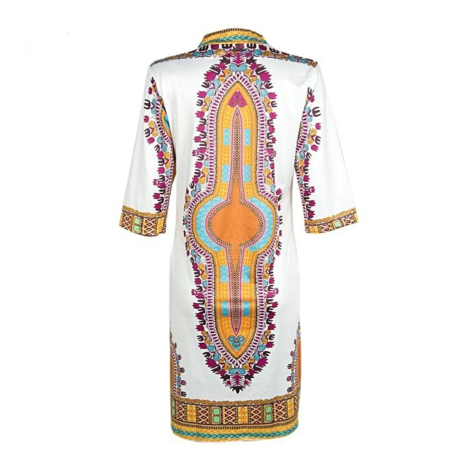 fb17229f79a ... Hiamok New Women Summer Casual Deep V-Neck Traditional African Print  Party Dresses L