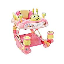 2 in 1 Baby Walker/Rocker with a Handle -  Pink