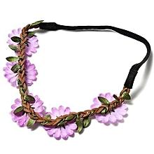 Flower Headba Nd-Crown Hea  Dband-BOHO HIP PY Headband-Floral Daisy Hair Band Purple NEW