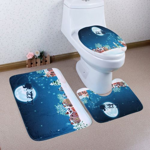 Muyi Home Christmas Toilet Foot Pad Seat Cover Radiator