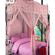 Canopy Mosquito Net with Metallic Stand - 6x6 - Pink