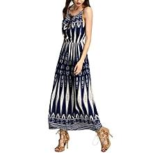 Women's Summer Boho Long Dress Beach Dress Sundress