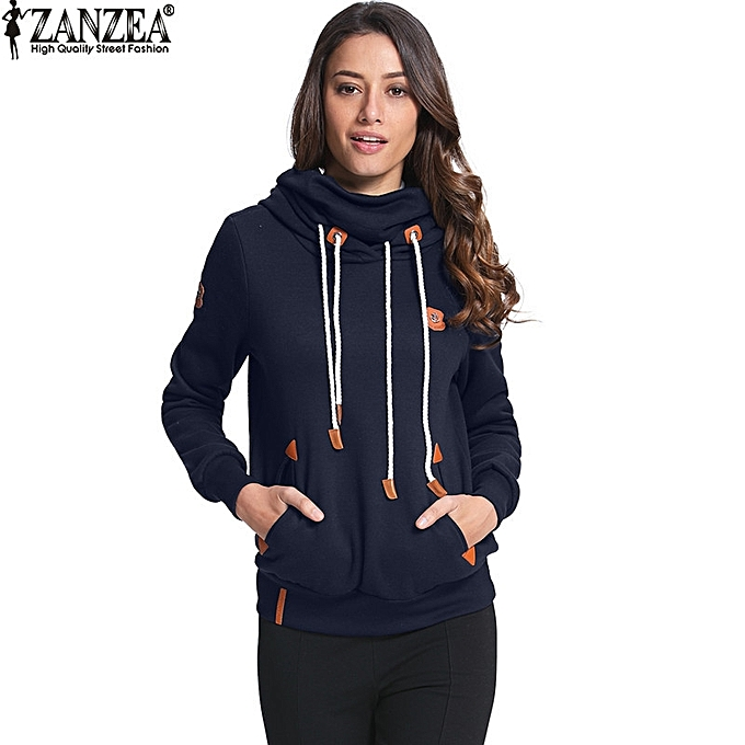 f443a5d6 ZANZEA High Quality Women Hoodies Autumn Winter Brushed Fleece Warm  Sweatshirt Plus Size Loose Sweatshirts (