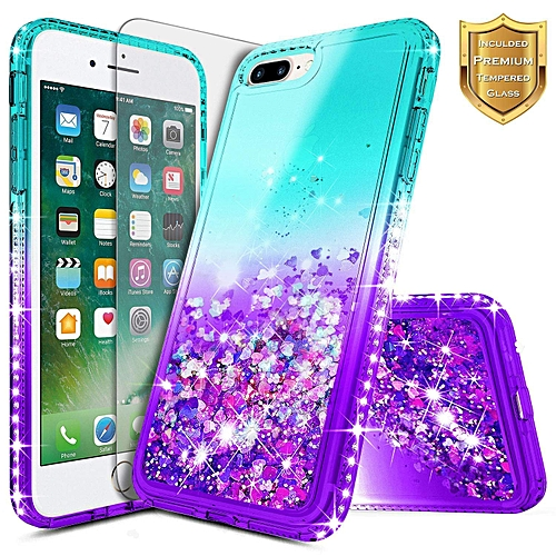 new arrival 40116 25323 iPhone 7 Plus / 8 Plus Bling Glitter Case + Glass Screen Protector