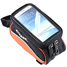 CBR 008 EVA Outdoor Portable Front Beam Bag Pouch for Bicycle Bike Cycling Orange