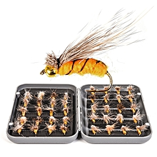 LEO 40PCS Fly Fishing Lure Set Trout Bass Artificial Bait Fishing Hooks Tackle With Box