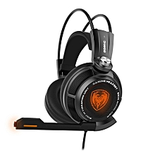 G941 7.1 Virtual Surround Sound USB Gaming Headset With Vibrating Function Mic Voice Control(BLACK)