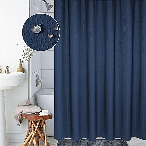 Generic Thickening Waterproof And Mildew Curtain Honeycomb Texture Polyester Cloth Shower Bathroom Curtainssize220200cmdark Blue Best Price
