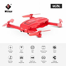 Q636 720P Wifi FPV Folding Drone Optical Flow Positioning Altitude Hold G-sensor RC Quadcopter Toy