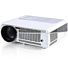 HD 1080P Multimedia LED 3600 Lumens Projector Built-in TV HDMI VGA AV USB RJ45 Input - White