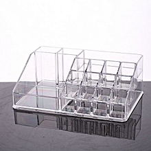Acrylic Makeup Organizer Plexiglass Lipstick Rack For Gils 16 Grid Fashion Cosmetic Box