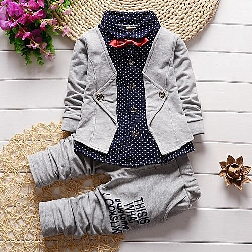 a772643df7b Fashion Male child autumn set baby boy spring and autumn child clothing  children s spring 2017 kids clothes for 1 2 3 4 5Y old-grey