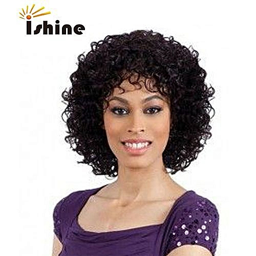 Generic Curly Short Lace Front Human Hair Wigs Brazilian Remy Hair ... 070531d9c3
