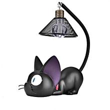 Cute Black Cat Night Light Resin Craft Desktop Lamp Room Table Decoration Gift