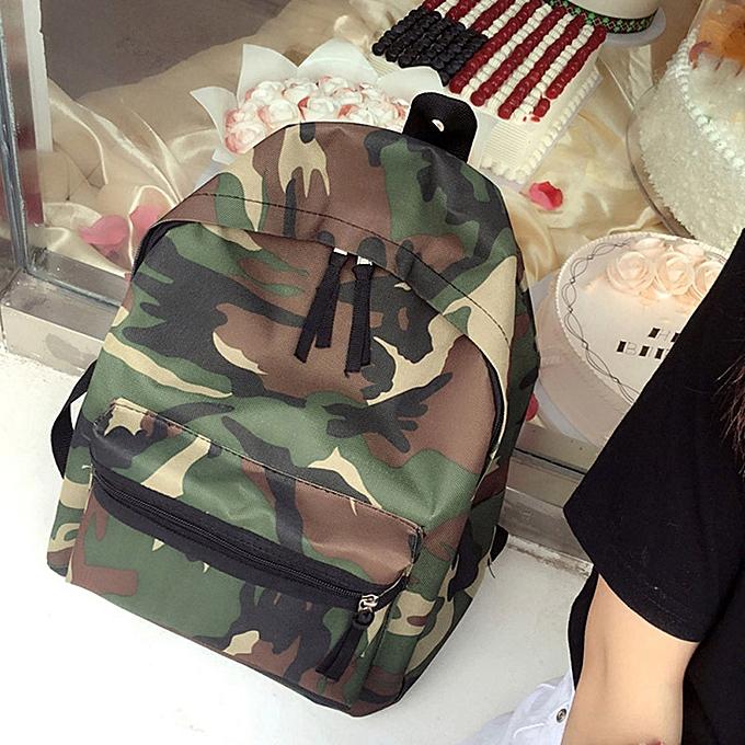 huskspo Women Girls Boys Camouflage Zipper Backpack School Bags Fashion  Shoulder Bag 95dfbcb551d17