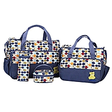 5 Piece Set Multifunctional High Quality Baby Diaper Bag