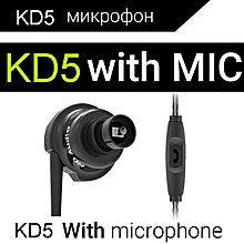 QKZ KD5 1DD+1BA Hybrid s HIFI DJ Metal For Phone MP3 MP4 PC With Mic Headset fone de ouvido PRI-P