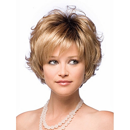 Generic Short Curly Blonde Wigs For Women Gifts Wig Cap Free   Best ... 4cff324f6