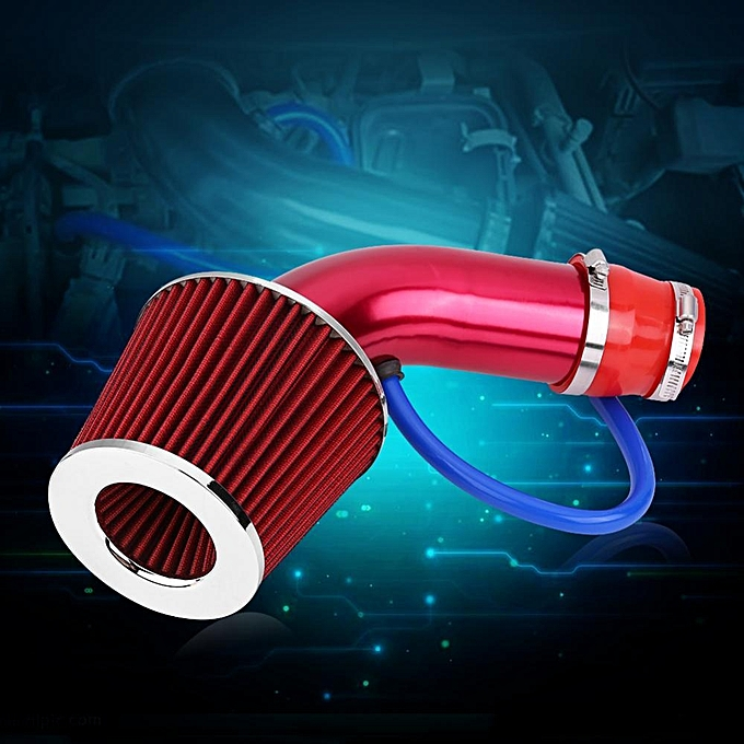 76mm 3 Inch Universal Car Cold Air Intake Filter Aluminum Induction Hose  Pipe Kit Tool