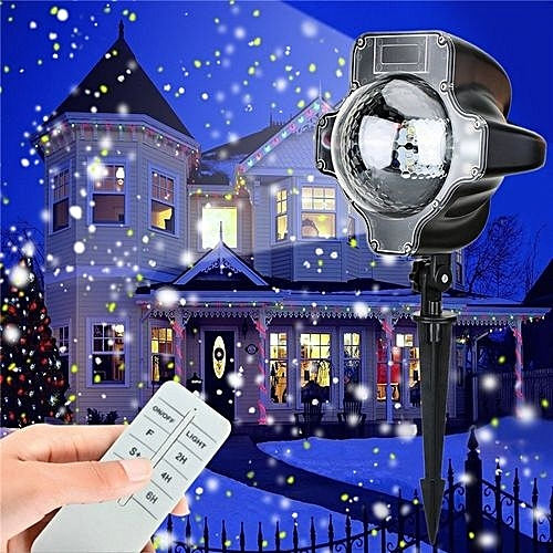 Christmas Led Snowfall Waterproof Projector Light With Wireless Remote Controller For Outdoor Eu Plug