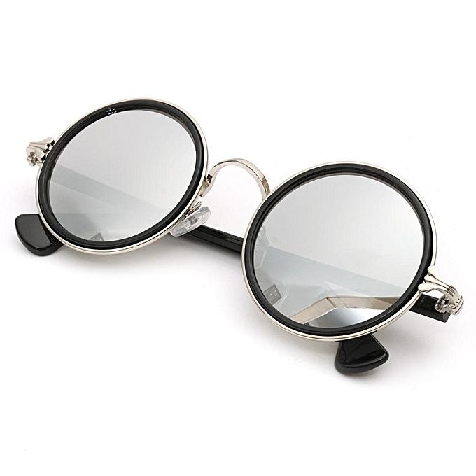 Buy Generic 2PCS Vintage Steampunk Round Sunglasses Metal Frame ...